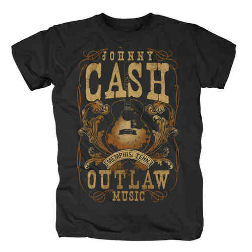 original Johnny Cash Herren T-Shirt MEMPHIS OUTLAW