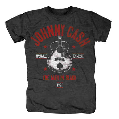 original Johnny Cash Herren T-Shirt NASHVILLE MIB