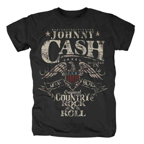 original Johnny Cash Herren T-Shirt COUNTRY ROCK N ROLL