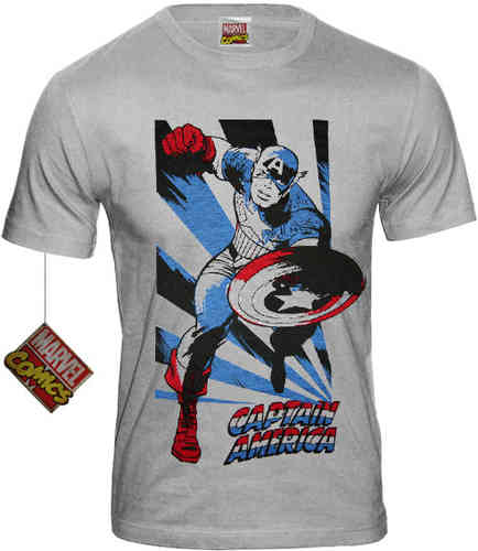 original Marvel Captain America FIGHT Herren T-Shirt