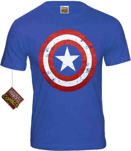 original Marvel Herren T-Shirt Captain America Shield Codi