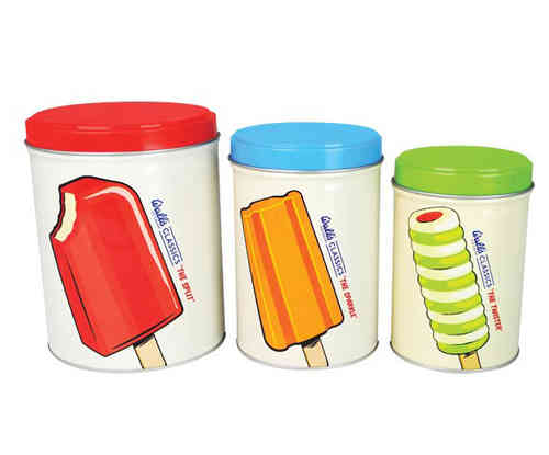 WALL´S Ice Cream Blechdosen 3er SET
