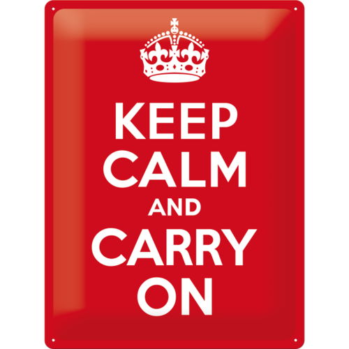 Retro KEEP CALM & CARRY ON Blechschild Küchenschild 30x40