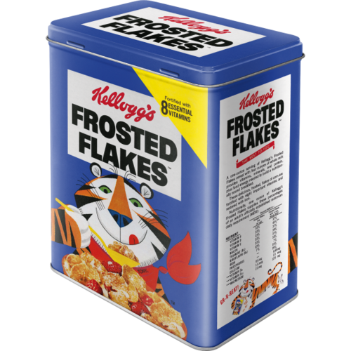 Kelloggs FROSTED FLAKES TONY TIGER Blechdose L