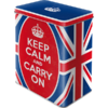 Retro KEEP CALM AND CARRY ON Vorratsdose Blechdose L