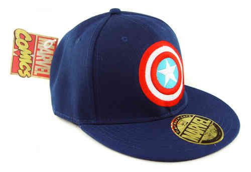 Marvel Comics Captain America LOGO Flat Cap navy