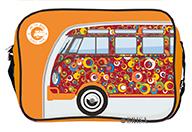 vw bulli t1 tasche on the road since 1950 quer orange kaufen. Black Bedroom Furniture Sets. Home Design Ideas