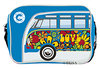 VW Bulli T1 Tasche On The Road Since 1950 Quer LOVE Blau