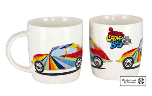 VW Kaffeetasse Käfer LOVE THAT BUG Multicolor