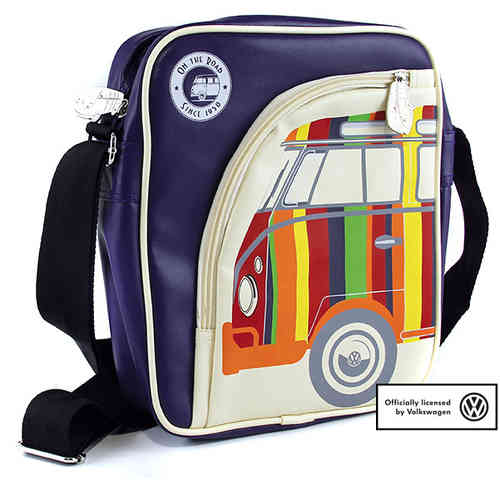 VW Collection Bulli T1 Tasche für IPAD Lila/ Creme
