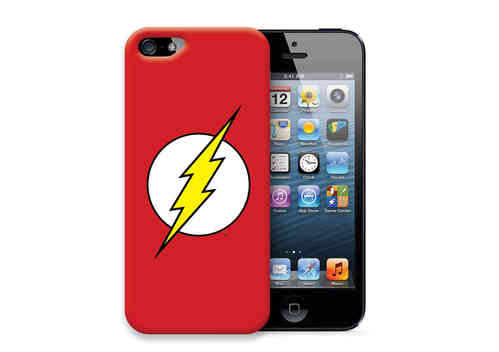 IPHONE 5 Cover Case Schutzhülle Tasche THE FLASH LOGO