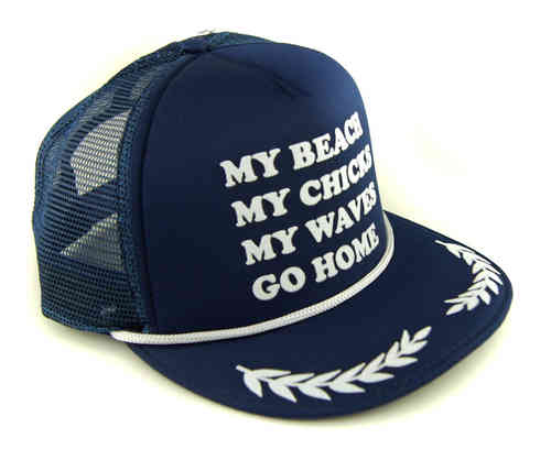 COASTAL 80er Retro Snapback Flat Cap  MY BEACH MY CHICKS