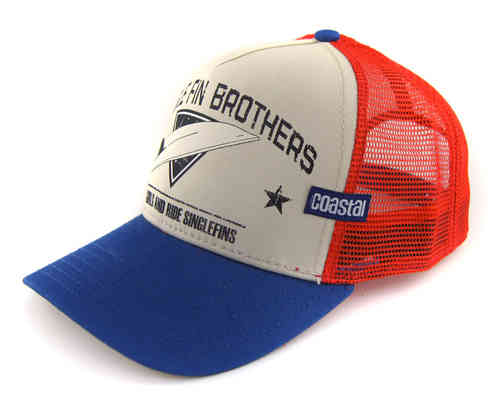 COASTAL 80er Retro Trucker Mesh Cap SINGLE FIN BROTHERS