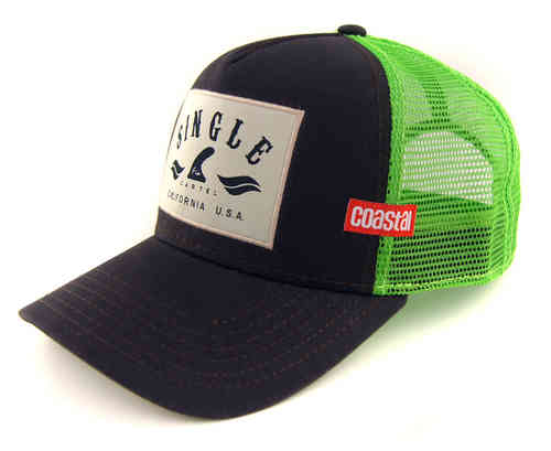 COASTAL 80er Retro Trucker Mesh Cap SINGLE FIN CARTEL