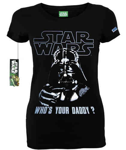 original Star Wars WHO IS YOUR DADDY Girl Shirt CODI