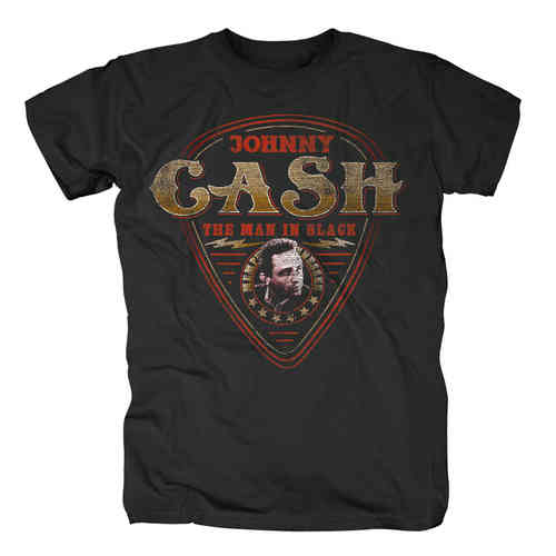 original Johnny Cash GUITAR PLEKTRUM Herren T-Shirt