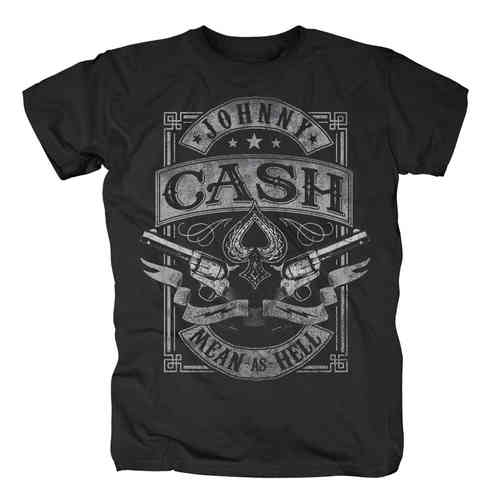 original Johnny Cash MEAN AS HELL Herren T-Shirt