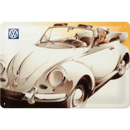 original VW CABRIO Käfer Beetle Retro Blechschild 20x30 cm