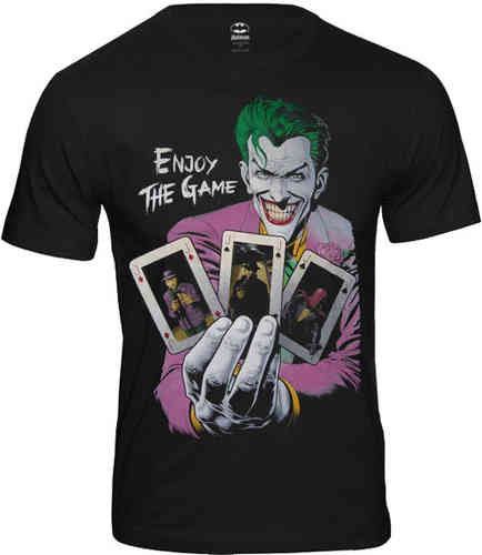 DC Comics Batman JOKER Herren T-Shirt ENJOY THE GAME