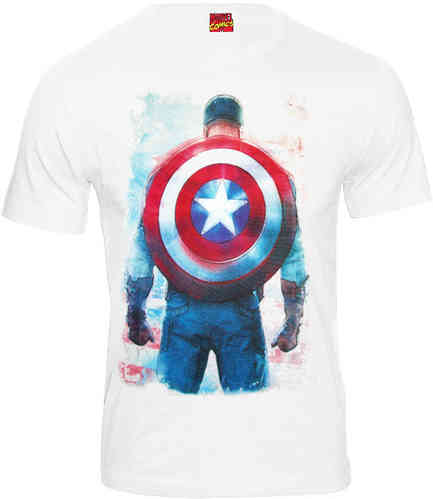 Marvel Comics CAPTAIN AMERICA Herren T-Shirt BACK