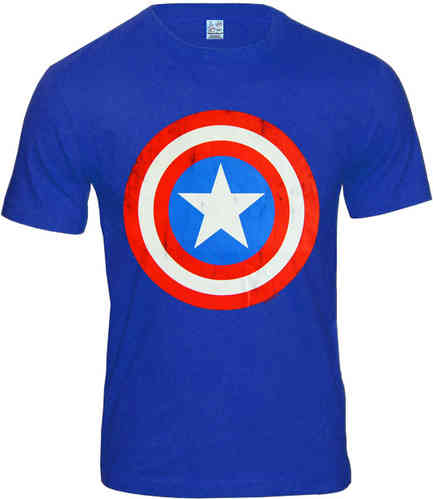 LOGOSHIRT Captain America Herren T-Shirt SHIELD