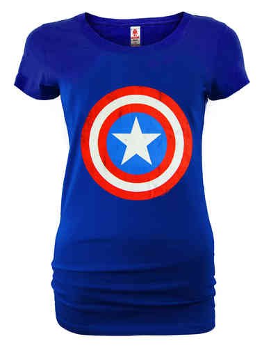 LOGOSHIRT Captain America Frauen T-Shirt SHIELD