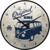 Retro VW Bulli T1 Bus THE ORIGINAL RIDE Wanduhr Küchenuhr