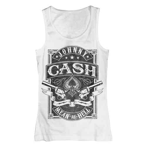 Retro JOHNNY CASH Girl T-Shirt Top MEAN AS HELL