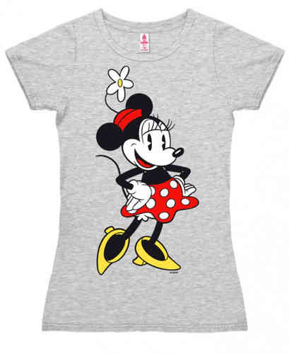 original DISNEY Frauen T-Shirt MINNIE MOUSE grau