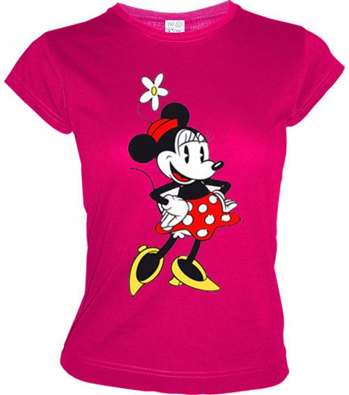 original disney frauen t shirt minnie mouse pink bestellen. Black Bedroom Furniture Sets. Home Design Ideas