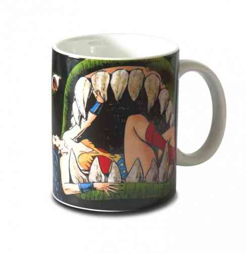 WONDER WOMAN Tasse Kaffeebecher JAWS OF THE LEVIATHAN
