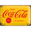 original COCA COLA LOGO YELLOW Blechschild 20x30cm