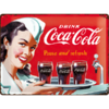 original COCA COLA WAITRESS Blechschild 30x40cm