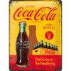 COCA COLA IN BOTTLES YELLOW Blechschild 30x40cm