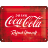 COCA COLA LOGO RED REFRESH YOURSELF Blechschild 15x20