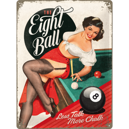 Retro PIN THE EIGHT BALL Blechschild 30x40cm