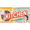 Retro PIN UP KITCHEN Blechschild 25x50cm