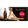 COCA COLA BE REFRESHED LADY Blechschild 25x50cm