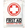 50er 60er Retro FIRST AID Blechschild 15x20cm