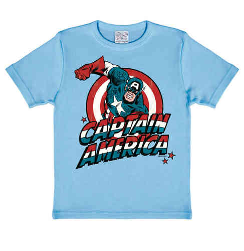 Marvel Comics CAPTAIN AMERICA Jungen Kinder T-Shirt
