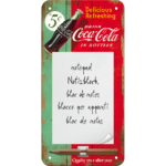 Retro COCA COLA Notizblock DELICIOUS REFRESHING GREEN