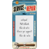 Retro SERVICE & REPAIR Notizblock Blechschild Magnet