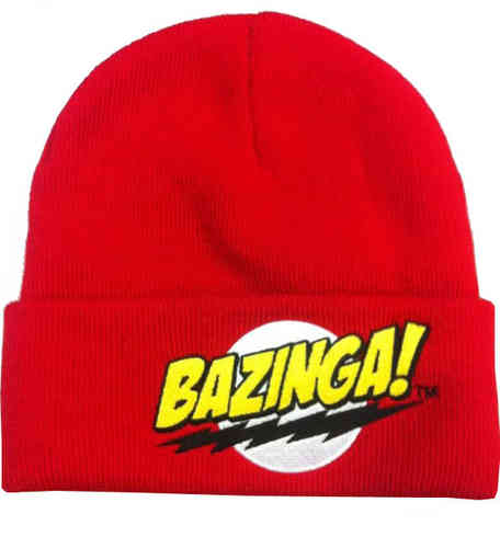 The Big Bang Theory BAZINGA Herren BEANIE Mütze Strickmütze
