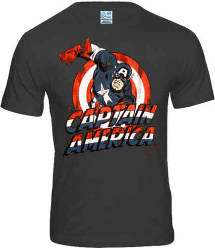 Marvel Comics CAPTAIN AMERICA Herren T-Shirt RUNNING