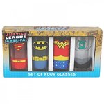 DC Comics Justice League 4er Set Gläser Trinkgläser