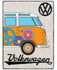 VW Bulli Camper Hessian Orange Blechschild 30x 40cm