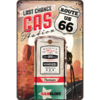 Retro ROUTE 66 GAS STATION Blechschild 20x30cm