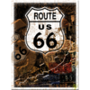 Retro ROUTE 66 ROST COLLAGE Blechschild 20x30cm