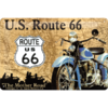 Retro ROUTE 66 MAP Blechschild 20x30cm
