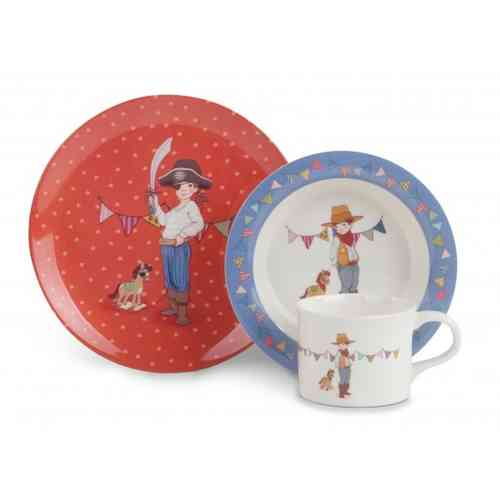 Belle & Boo Melamin Kinder Geschirr Set 3tlg Pirate